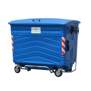 1700L Hot Dip Galvanization steel garbage trash can